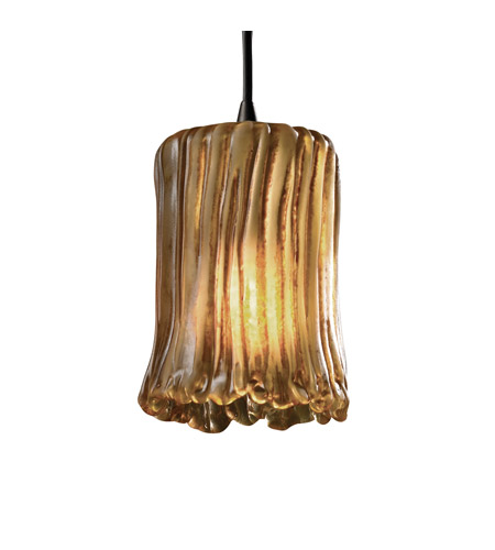 Justice Design GLA-8815-16-AMBR-ABRS-RIGID-LED1-700 Veneto Luce LED 5 inch Antique Brass Pendant Ceiling Light photo
