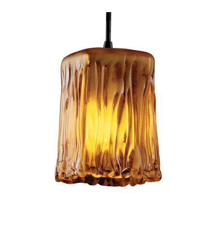 Justice Design GLA-8816-26-GLDC-CROM-BKCD Veneto Luce 1 Light 5 inch Polished Chrome Pendant Ceiling Light in Gold with Clear Rim (Veneto Luce) photo
