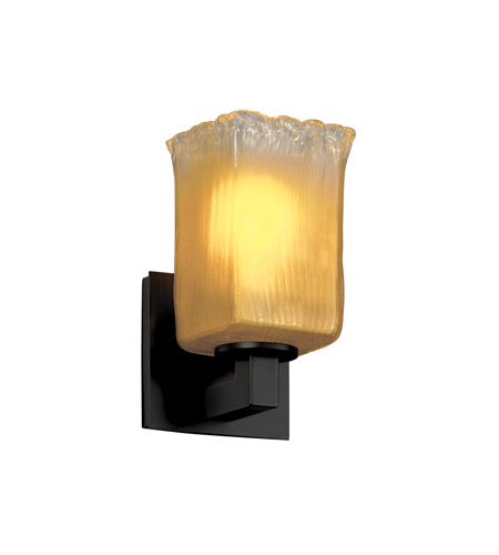 Justice Design Veneto Luce Modular 1-Light Wall Sconce in Matte Black GLA-8921-26-GLDC-MBLK photo