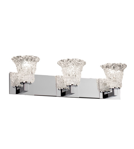 Justice Design Veneto Luce Modular 3-Light Bath Bar in Polished Chrome GLA-8923-20-LACE-CROM photo