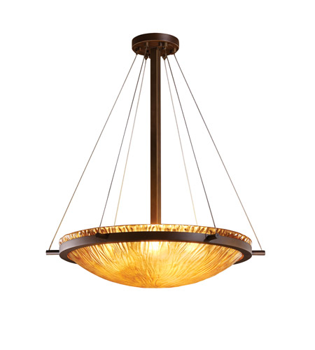 Justice Design GLA-9692-35-WTFR-DBRZ-LED5-5000 Veneto Luce LED 27 inch Dark Bronze Pendant Ceiling Light in 5000 Lm LED, White Frosted (Veneto Luce) photo