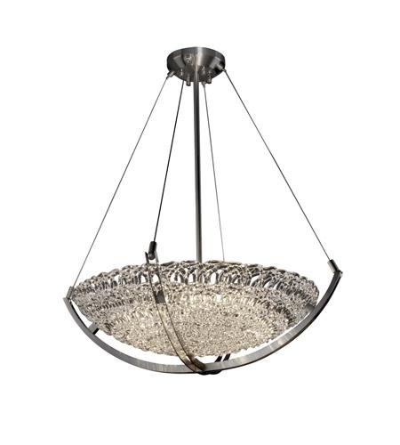 Justice Design Gla 9722 35 Lace Nckl Veneto Luce 6 Light 28 Inch Brushed Nickel Pendant Bowl Ceiling In Incandescent