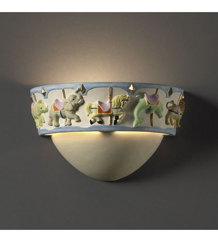 Justice Design KID-3360 Kids Room 1 Light 5 inch Multicolored Wall Sconce Wall Light photo