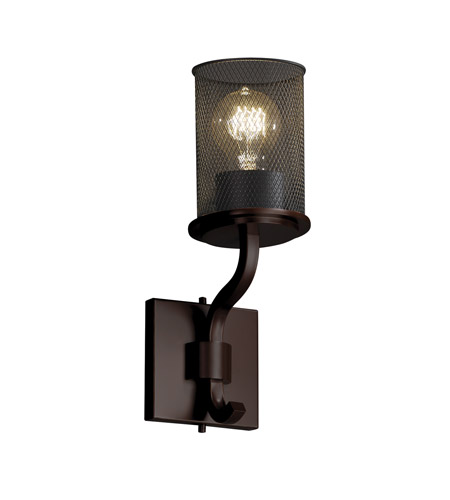 Justice Design MSH-8781-10-DBRZ Sonoma 1 Light 5 inch Dark Bronze Wall Sconce Wall Light