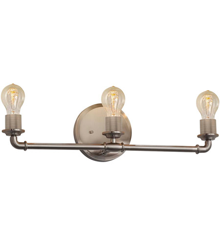 Justice Design NSH-8463-NCKL Signature 3 Light 23 inch Brushed Nickel Bath Bar Wall Light