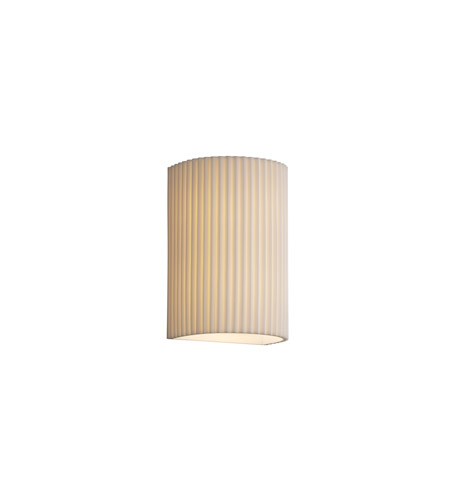Justice Design PNA-1265-PLET Porcelina 2 Light 8 inch Wall Sconce Wall Light in Pleats photo