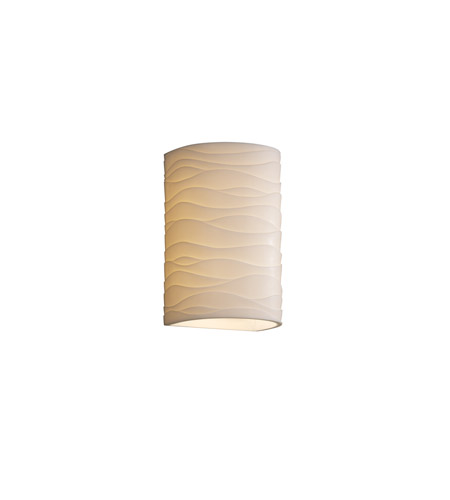Justice Design PNA-1265W-WAVE Porcelina 1 Light 13 inch Outdoor Wall Sconce in Waves photo
