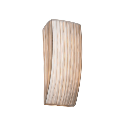 Justice Design PNA-5135-WFAL Signature 1 Light 6 inch ADA Wall Sconce Wall Light in Waterfall, Incandescent