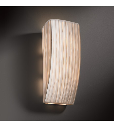 Justice Design PNA-5135-WFAL Signature 1 Light 6 inch ADA Wall Sconce Wall Light in Waterfall, Incandescent PNA-5135-WFAL_2.jpg