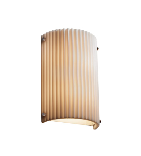 Justice Design PNA-5542W-PLET-NCKL Signature 1 Light 8 inch Brushed Nickel Wall Sconce Wall Light