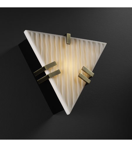 Justice Design Porcelina Clips Triangle Wall Sconce (Ada) in Antique Brass PNA-5552-WFAL-ABRS photo
