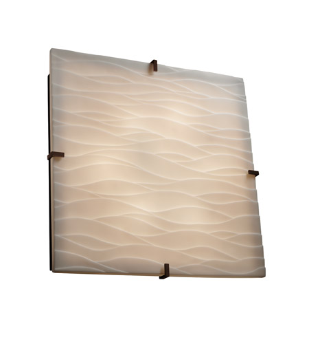 Justice Design PNA-5558-WAVE-DBRZ Signature 6 Light 25 inch Dark Bronze Wall Sconce Wall Light in Waves