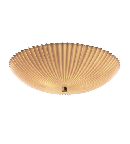 Justice Design PNA-9672-35-PLET-DBRZ Porcelina 6 Light 24 inch Dark Bronze Semi-Flush Bowl Ceiling Light in Round Bowl, Pleats photo