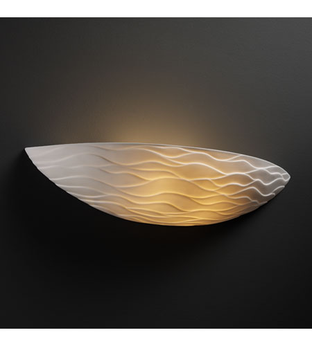 Justice Design Limoges Ada Small Sliver Wall Sconce POR-4210-WAVE photo
