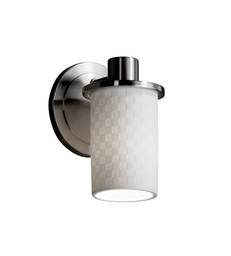 justice design limoges 1 light 5 inch brushed nickel wall sconce wall light in