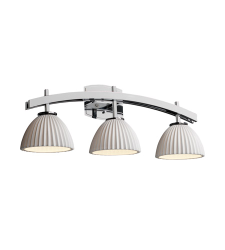 Justice Design Limoges Archway 3-Light Bath Bar in Polished Chrome POR-8593-35-PLET-CROM photo