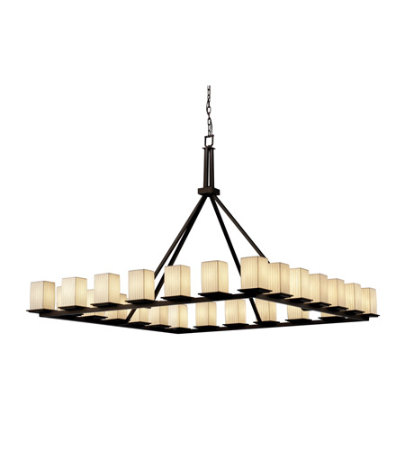 Justice Design Limoges Montana 24-Light Ring Chandelier in Dark Bronze POR-8616-15-WFAL-DBRZ photo