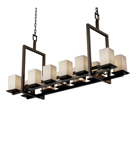 Justice Design POR-8620-15-PLET-DBRZ Limoges 17 Light 14 inch Dark Bronze Chandelier Ceiling Light in Pleats photo