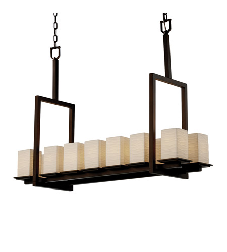 Justice Design Limoges Montana 14-Light Bridge Chandelier (Tall) in Dark Bronze POR-8664-15-WAVE-DBRZ photo
