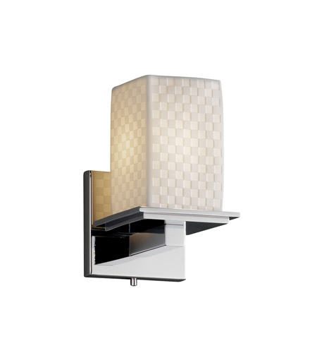 Justice Design Limoges Montana 1-Light Wall Sconce in Polished Chrome POR-8671-15-CHKR-CROM photo