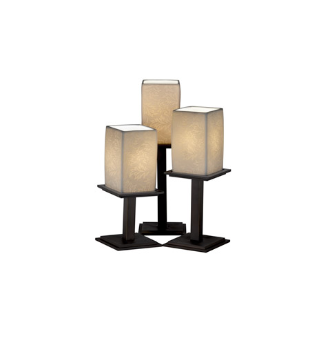 Justice design limoges montana 3 light table lamp in dark for Design table lamp giffy 17 7
