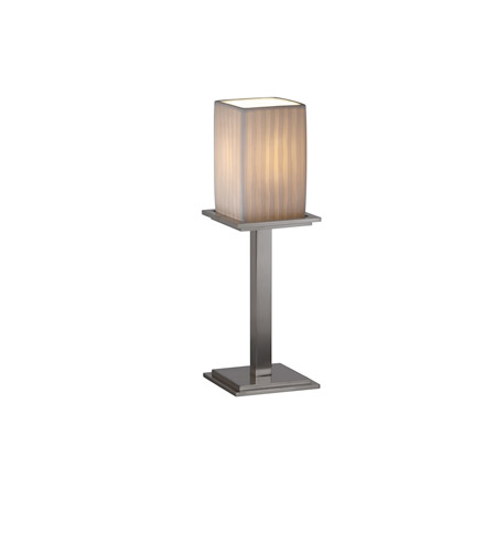 Justice Design Limoges Montana 1-Light Table Lamp (Tall) in Brushed Nickel POR-8699-15-WFAL-NCKL photo