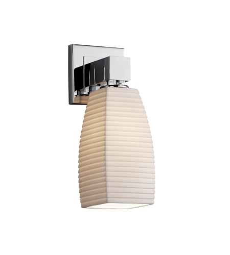 Justice Design Limoges Aero 1-Light Wall Sconce (No Arms) in Polished Chrome POR-8705-65-SAWT-CROM photo