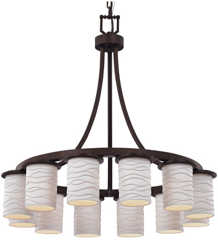 Limoges Led 28 Inch Dark Bronze Chandelier Ceiling Light In Waves 8400 Lm