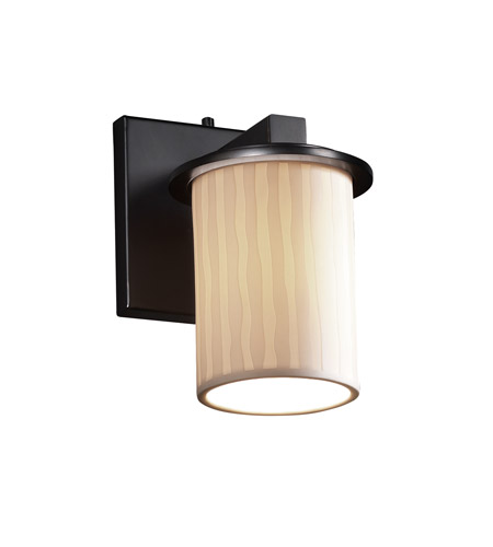 Justice Design POR-8771-10-WFAL-MBLK Limoges 1 Light 5 inch Matte Black Wall Sconce Wall Light in Waterfall photo