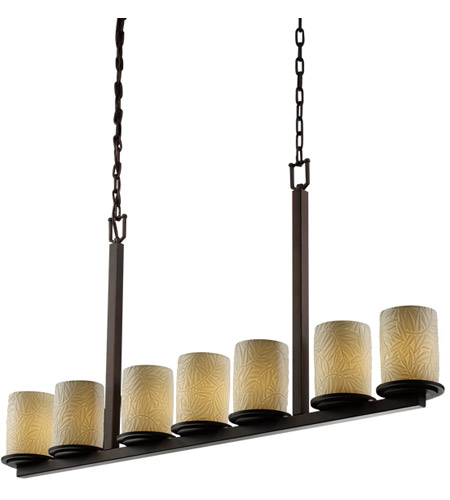 Justice Design Limoges Dakota 7-Light Bar Chandelier in Dark Bronze POR-8779-10-BMBO-DBRZ photo