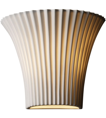 Justice Design POR-8810-PLET Limoges 1 Light 9 inch Wall Sconce Wall Light in Pleats photo