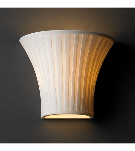 Justice Design POR-8810-WFAL Limoges 1 Light 9 inch Wall Sconce Wall Light in Waterfall photo