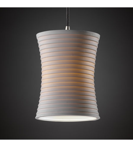 Justice Design Limoges Pendants Mini 1-Light Pendant in Brushed Nickel POR-8815-60-SAWT-NCKL photo