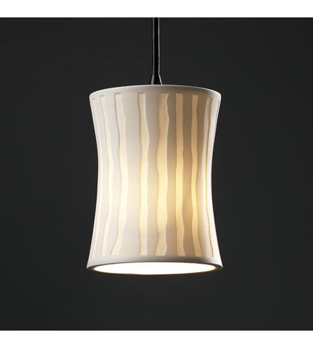 Justice Design Limoges Pendants Mini 1-Light Pendant in Dark Bronze POR-8815-60-WFAL-DBRZ photo