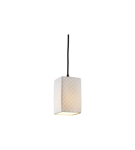 Justice Design POR-8816-15-CHKR-DBRZ Limoges 1 Light 4 inch Dark Bronze Pendant Ceiling Light photo
