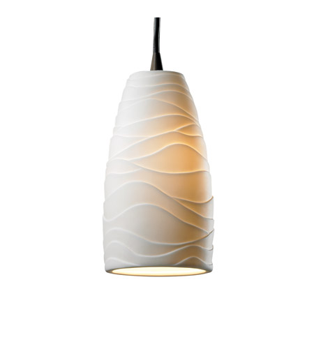 Justice Design Limoges Pendants Small 1-Light Pendant in Dark Bronze POR-8816-28-WAVE-DBRZ photo