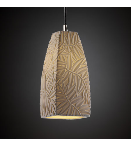 Justice Design Limoges Pendants Small 1-Light Pendant in Brushed Nickel POR-8816-65-BMBO-NCKL photo