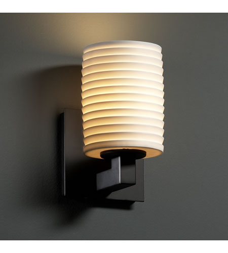 Justice Design Limoges Modular 1-Uplight Wall Sconce (Halogen) in Matte Black POR-8821-10-SAWT-MBLK photo