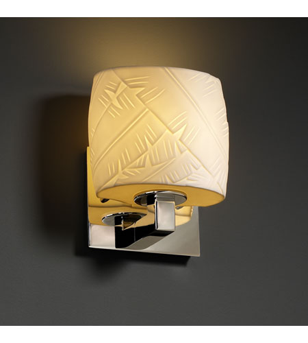 Justice Design Limoges Modular 1-Uplight Wall Sconce (Ada) in Polished Chrome POR-8831-30-BANL-CROM photo