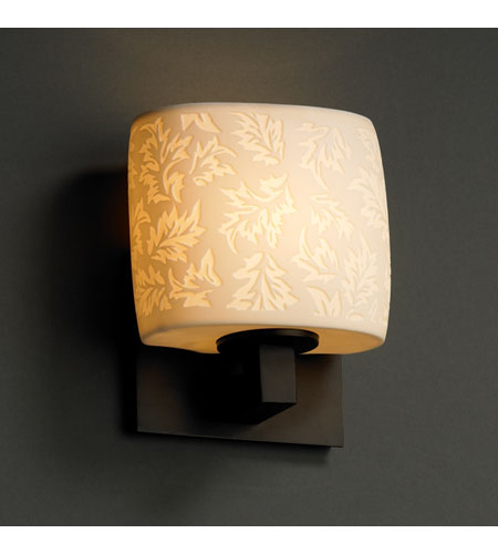 Justice Design Limoges Modular 1-Uplight Wall Sconce (Ada) in Dark Bronze POR-8831-30-LEAF-DBRZ photo