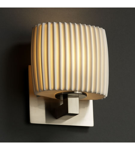 Justice Design Limoges Modular 1-Uplight Wall Sconce (Ada) in Brushed Nickel POR-8831-30-PLET-NCKL photo