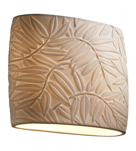 Justice Design Limoges Ada Wide Oval Wall Sconce POR-8855-BMBO photo