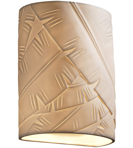 Justice Design POR-8857-BANL Limoges 1 Light 7 inch ADA Wall Sconce Wall Light in Banana Leaf photo