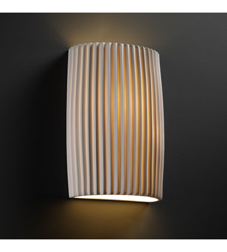 Justice Design POR-8858-PLET Limoges 2 Light 8 inch ADA Wall Sconce Wall Light in Pleats photo