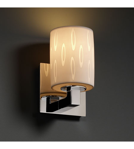 Justice Design Limoges Modular 1-Light Wall Sconce in Polished Chrome POR-8921-10-OVAL-CROM photo