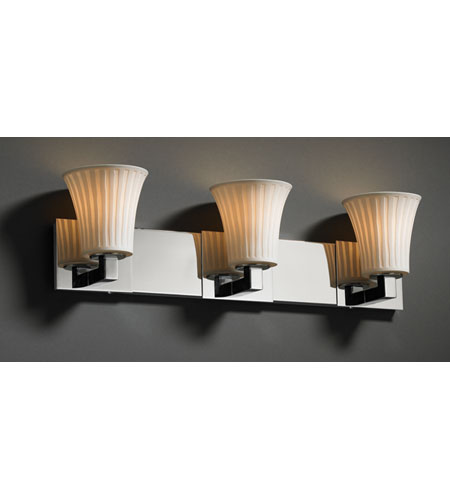 Justice Design Limoges Modular 3-Light Bath Bar in Polished Chrome POR-8923-20-WFAL-CROM photo