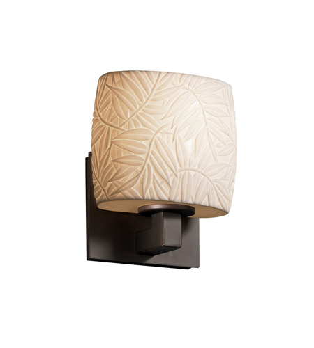Justice Design POR-8931-30-BMBO-DBRZ Limoges 1 Light 7 inch Dark Bronze ADA Wall Sconce Wall Light in Bamboo photo