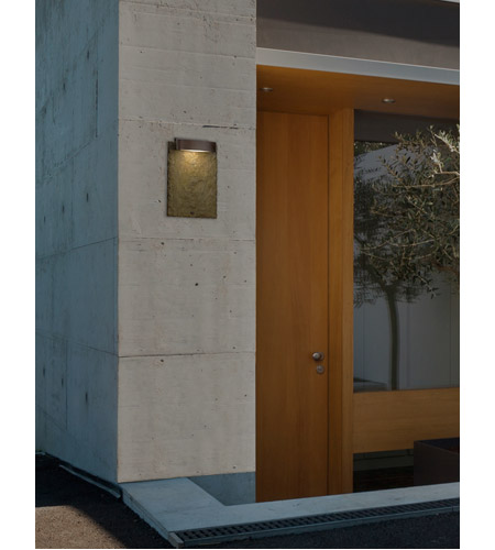Justice Design SLT-7531W-ERTH-DBRZ Slate 12 inch Outdoor Wall Sconce in Dark Bronze, Earth SLT-7531W-ERTH-DBRZ_GLAMOUR.jpg
