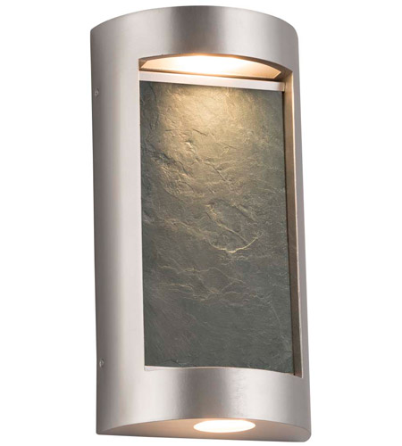 Justice Design SLT-7535W-NTRL-NCKL Slate LED 8 inch Brushed Nickel ADA Wall Sconce Wall Light in Natural