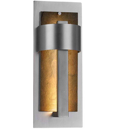 Justice Design Slt 7642w Erth Nckl Slate Litho Led 15 Inch Brushed Nickel Outdoor Wall Sconce